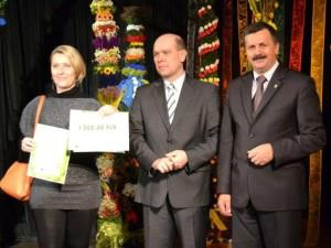 Wręczenie dyplomu i nagrody